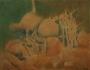 haystacks, birds and chicken 1990