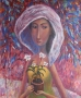 lady with flowers 1995